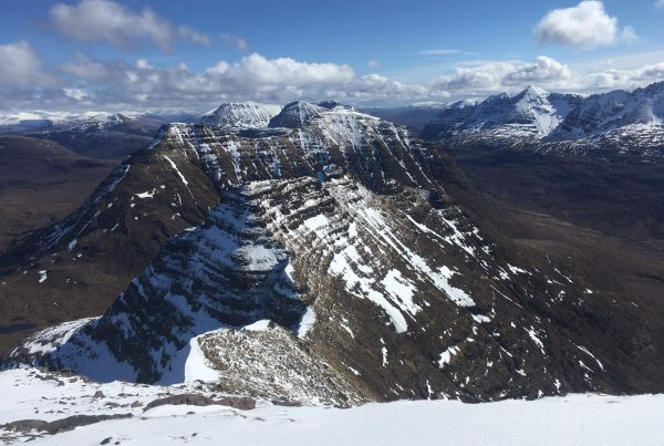 A winter view from the Horns of Alligin in Torridon