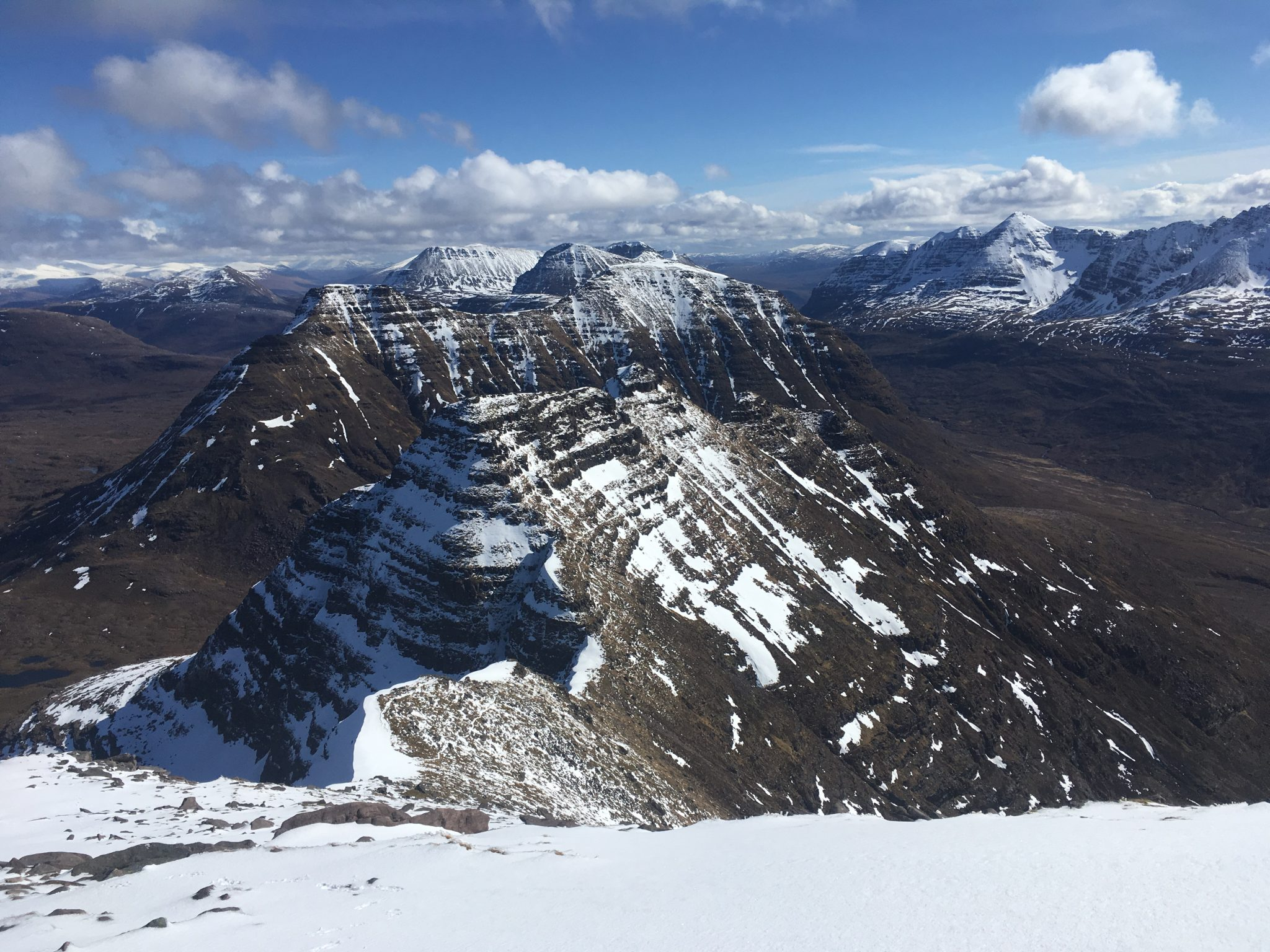 """A view of the Torridon mountains, including Liathach - one of the big three ridges"""" width="""