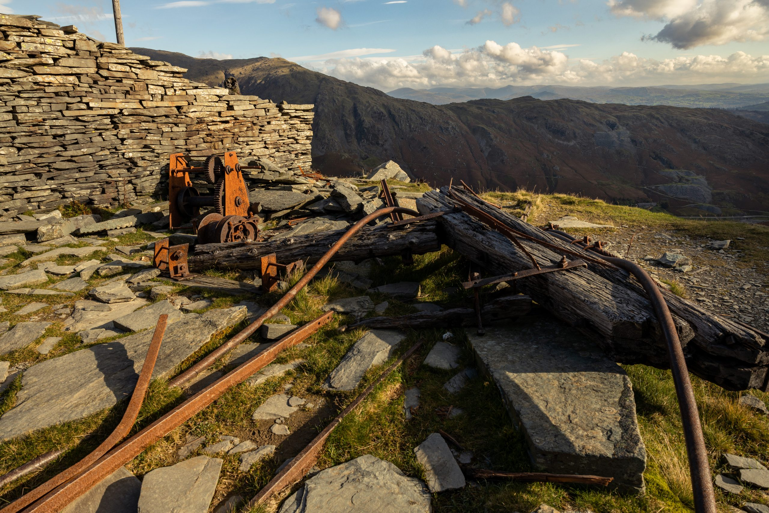 """Old Mining machinery on the route up to Coniston Old Man from the Coppermines Valley"""" width="""""""" height="""