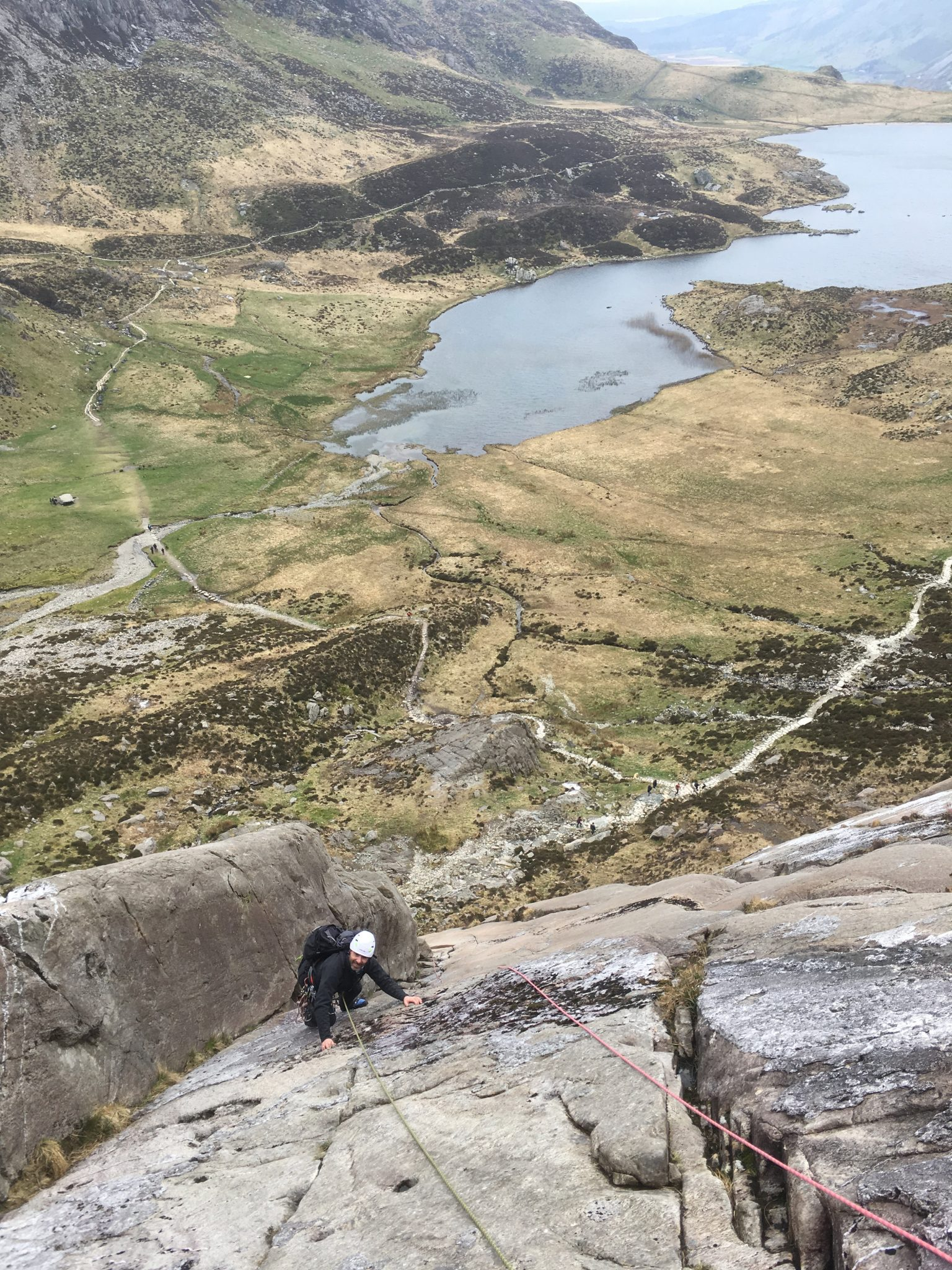 Guided rock climbing on Hope, Idwal Slabs in Snowdonia - also available in Yorkshire, the Peak District and Lake District