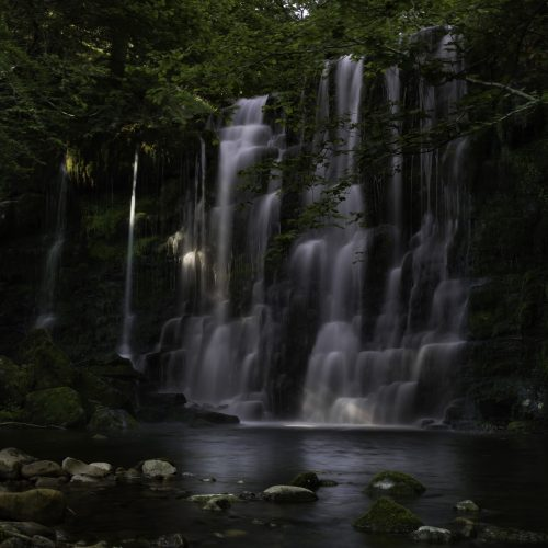 The very graceful and pretty waterfall at Scale Haw Force in the Yorkshire Dales