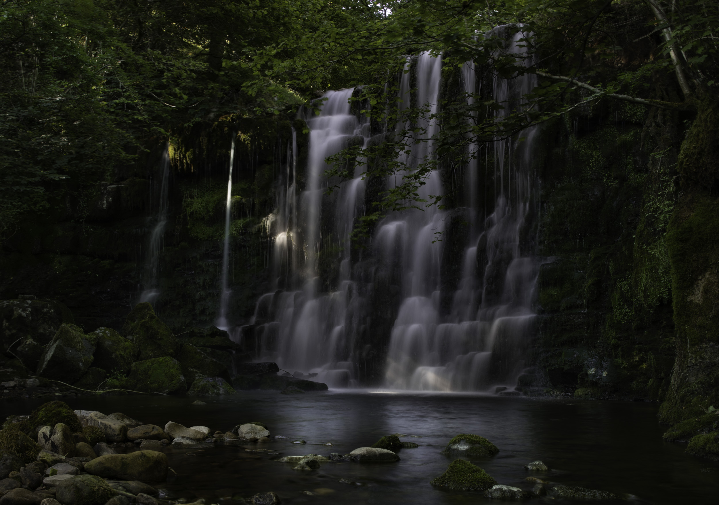 """The very graceful and pretty waterfall at Scale Haw Force in the Yorkshire Dales, seen on a guided waterfall walk."""" width="""""""" height="""