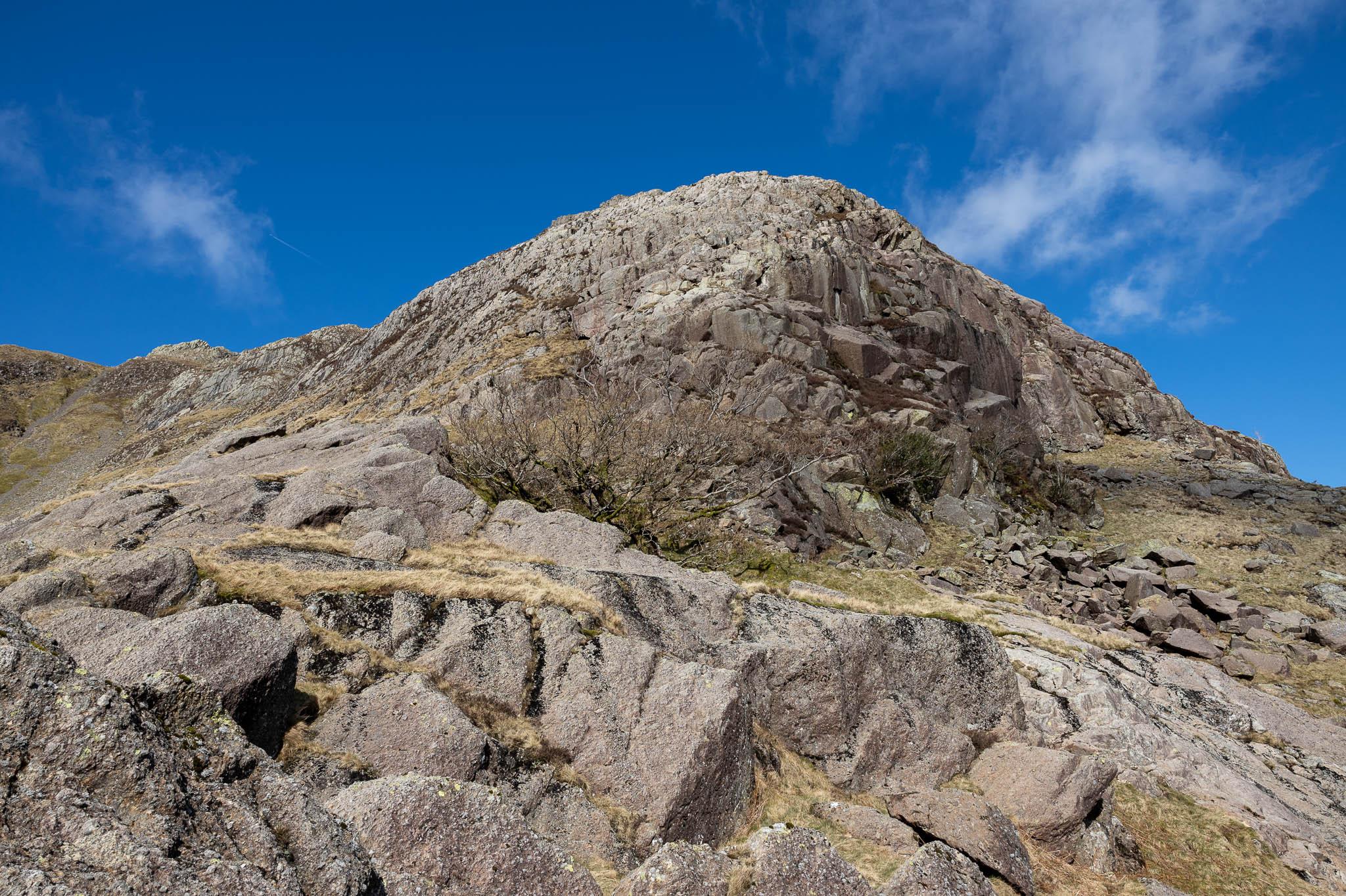 The main part of Cam Crag Ridge looming ahead