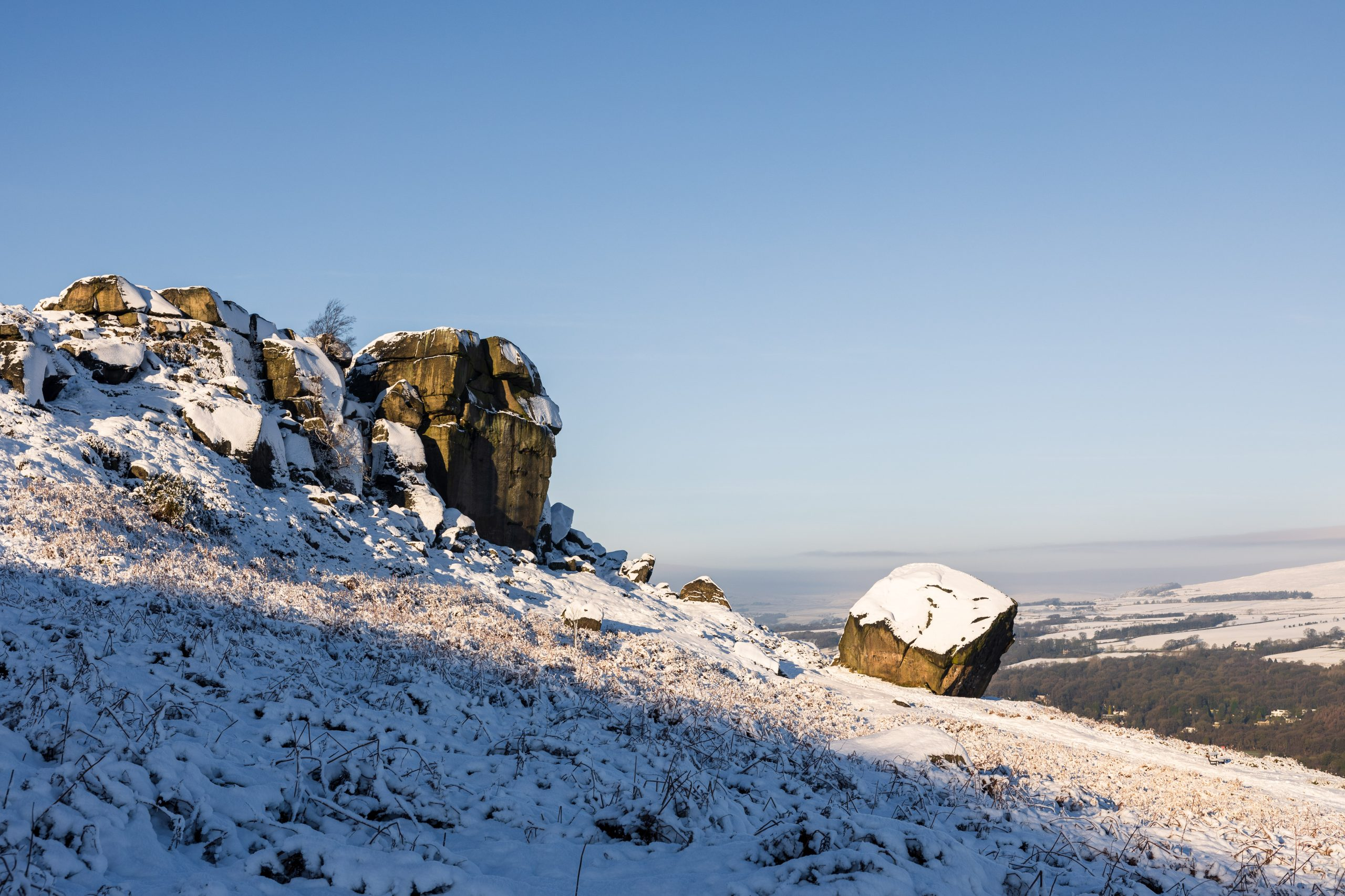 The Cow and Calf Rocks, Ilkley Moor - one of the iconic views of the Yorkshire Dales
