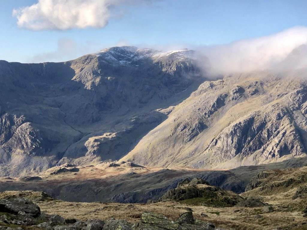 East side of Scafell seen from Crinkle Crags