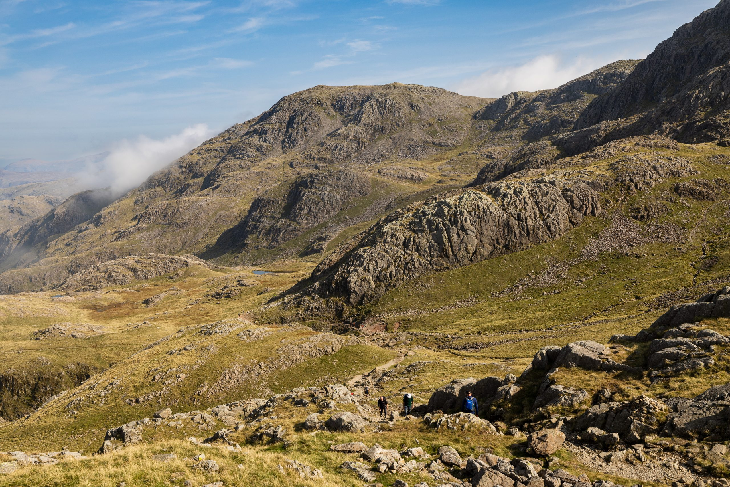 Great End seen from the start of the Corridor Route below Scafell Pike