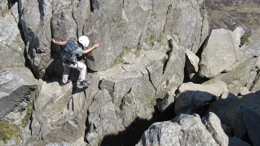Descending into 'The Notch' on the North Ridge of Tryfan