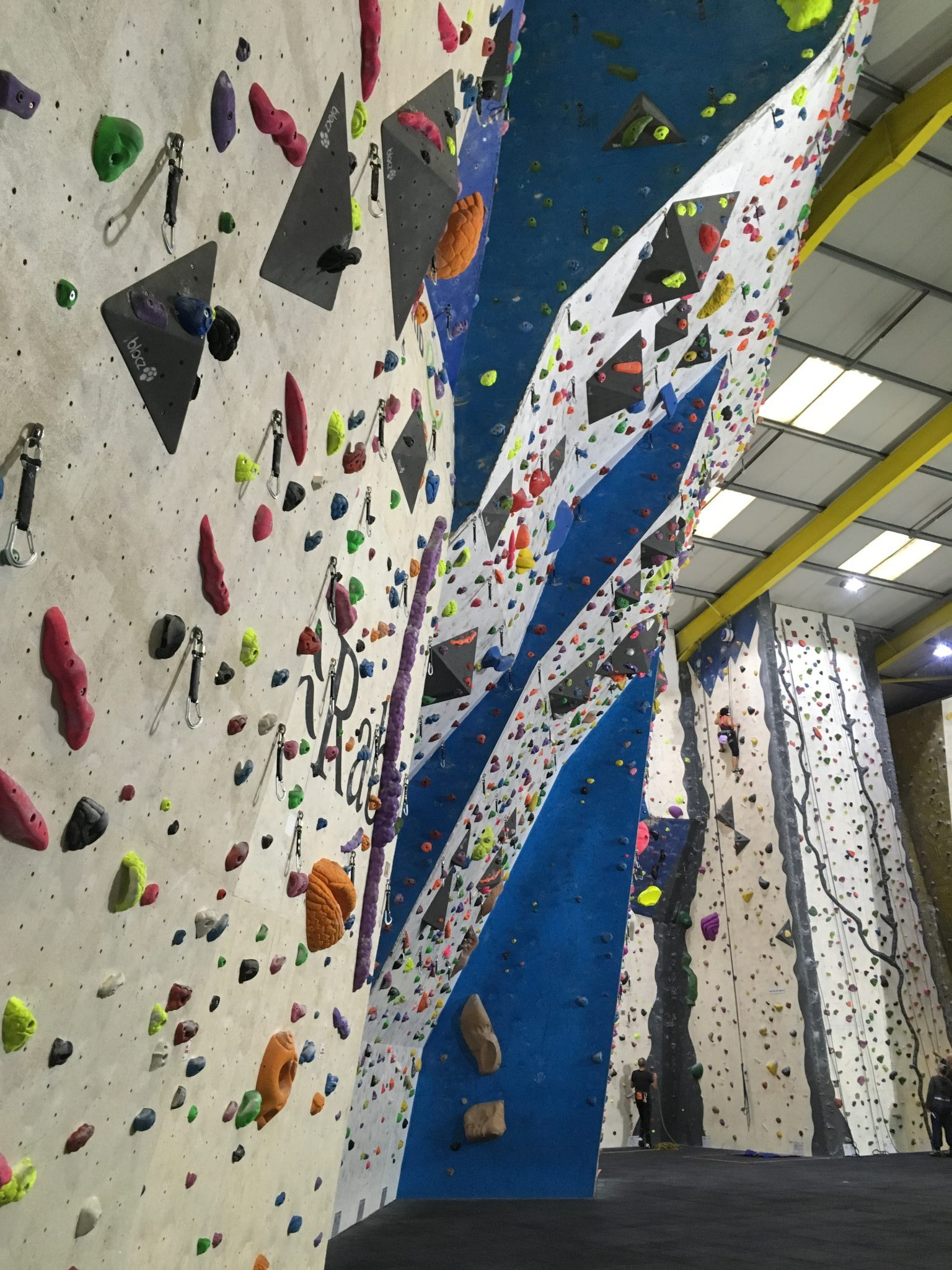 Some climbers enjoying a climbing taster session in Leeds