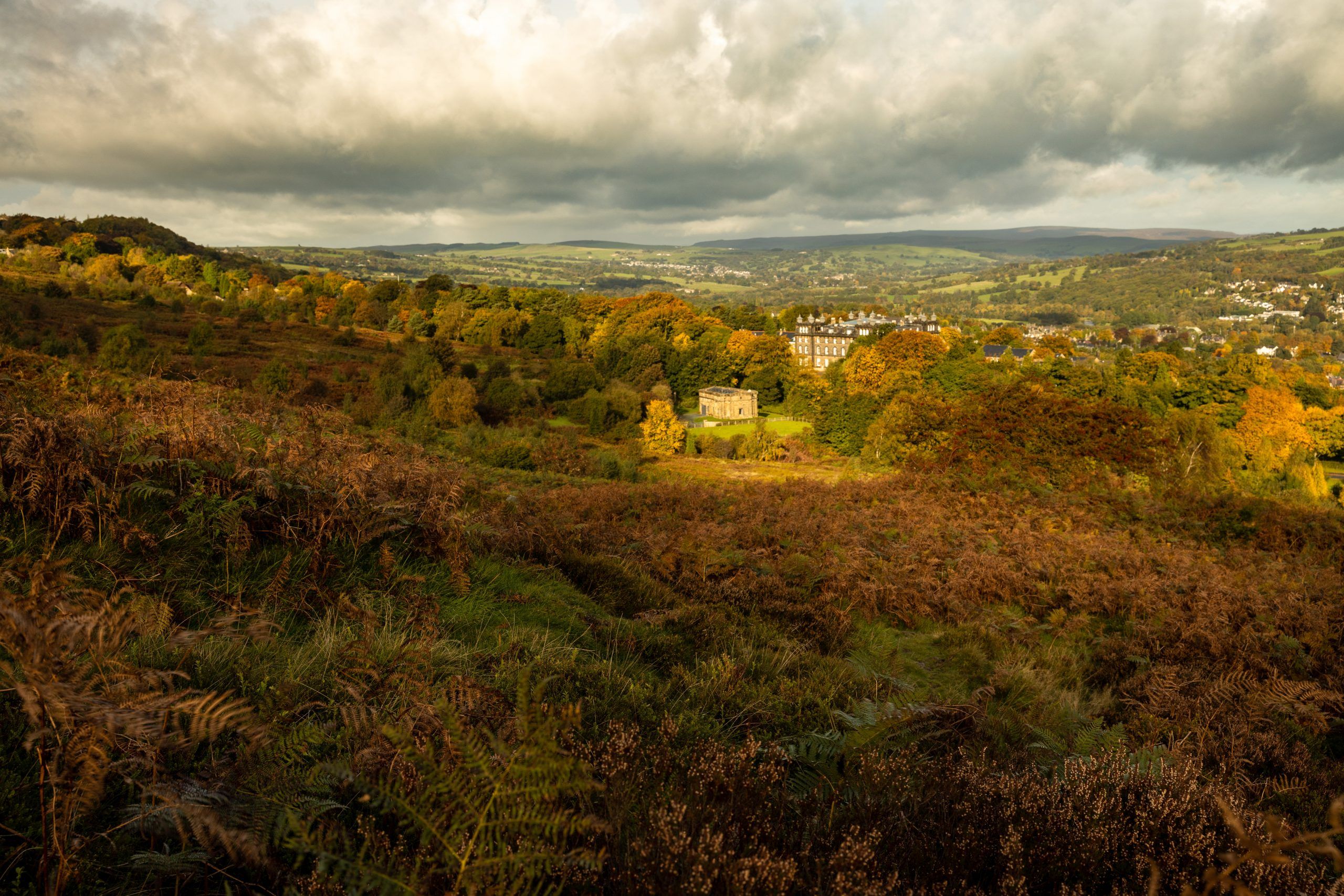 "The beautiful golden colours of autumn in Ilkley, start of the Dales Way"" width="""" height="