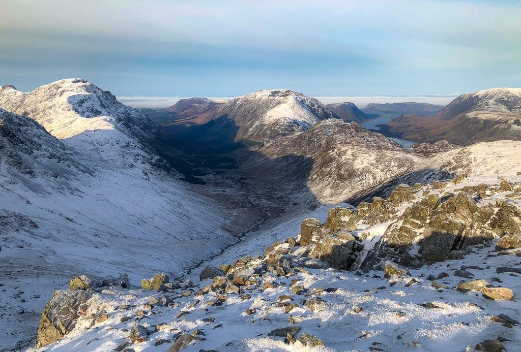 Pillar, in the Lake District, towering above Ennerdale and the Black Sail Hut youth hostel