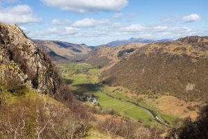 The view down Borrowdale from the top of Big Stanger Gill